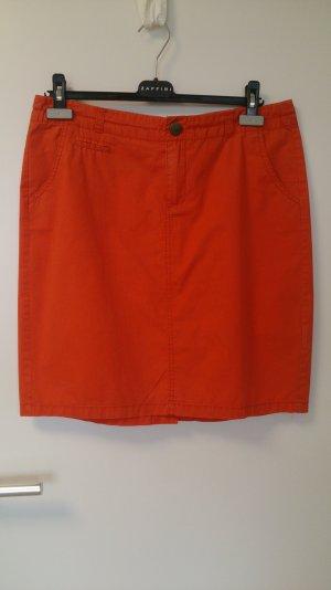 Sportlicher Sommerrock Jeansform, dunkelorange