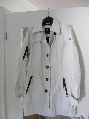 Sportlicher, weißer, wasserabweisend Trenchcoat von Gaastra, Gr. XL