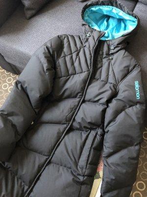 Salomon Manteau matelassé noir-turquoise