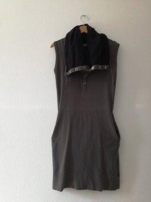 Bench Vestido de tela de sudadera negro-gris oscuro