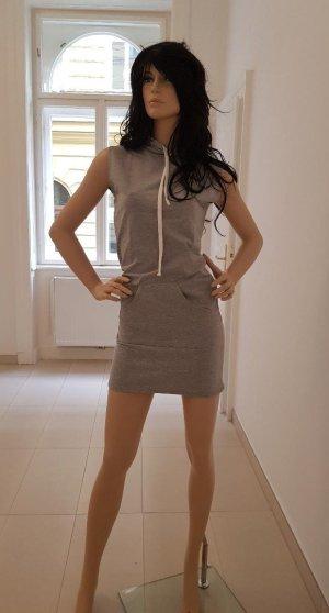 Vestido con capucha gris claro Algodón