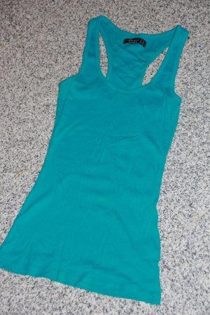 Collezione Haut basique bleu fluo coton
