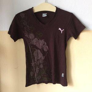 Sportliches Printshirt mit V-Neck, Gr. L