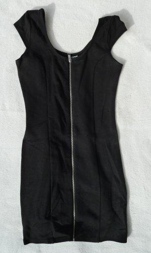 Sportliches Reißverschluss Kleid Sexy Zipper Black