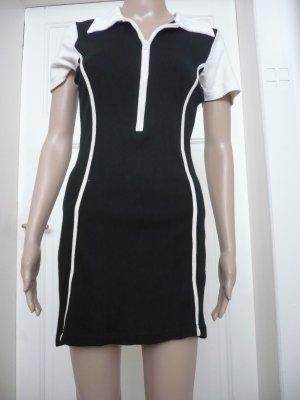 Sportliches schwarz-weiß Stretchkleid von InScene