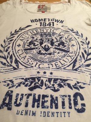 Sportliches Shirt mit blauem Print
