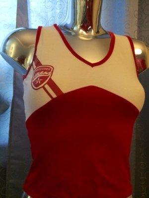 Sportliches Top rot weiß Cheerleader Gr. 34 / Rodeo