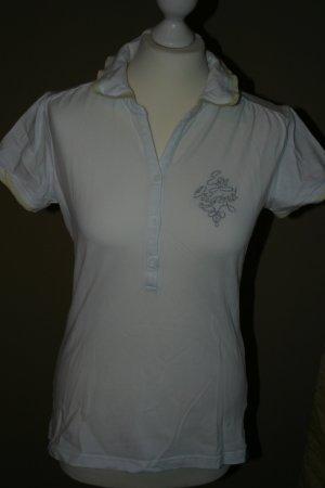 Sportliches weißes ESPRIT Poloshirt in Gr. 40
