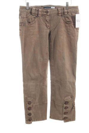 Sportmax Jeans 7/8 marron clair style décontracté