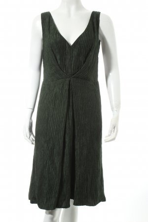 Sportmax Chiffonkleid dunkelgrün Eleganz-Look