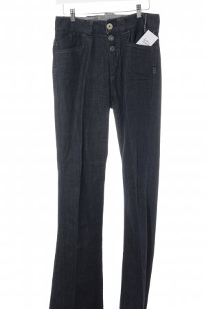 Sportmax Code Boot Cut Jeans dunkelblau Street-Fashion-Look