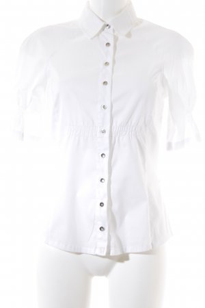 Sportmax Code Kurzarm-Bluse weiß Elegant