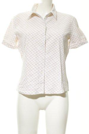 Sportmax Code Chemise à manches courtes blanc cassé-beige motif à carreaux