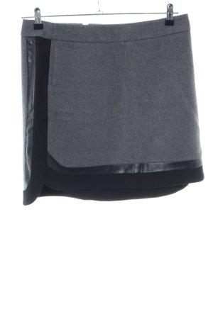 Sportmax Code Jupe corolle gris clair-noir moucheté style d'affaires