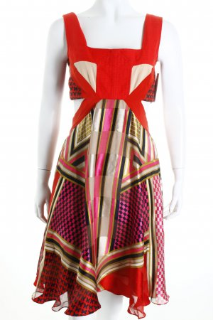 Sportmax Cut-Out-Kleid abstraktes Muster extravaganter Stil