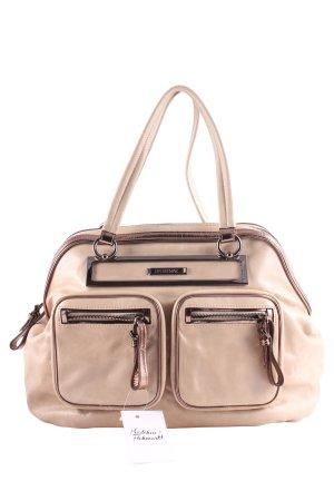 Sportmax Handbag cream-silver-colored metallic look