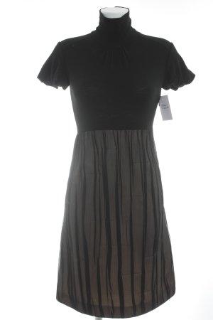 Sportmax Kurzarmkleid schwarz-creme Elegant