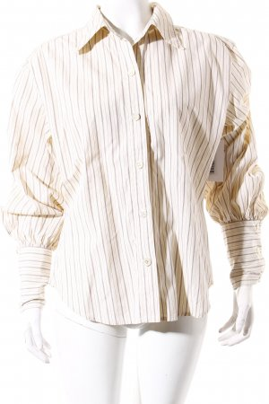 Sportmax Long Sleeve Shirt brown-cream striped pattern casual look