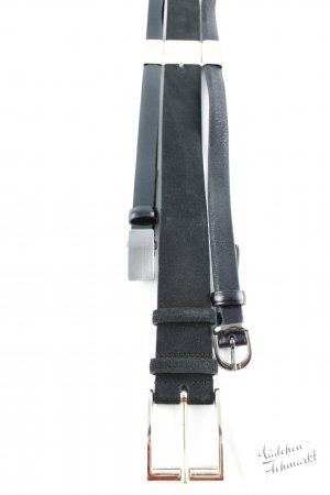 Sportmax Leather Belt gold-colored-black casual look