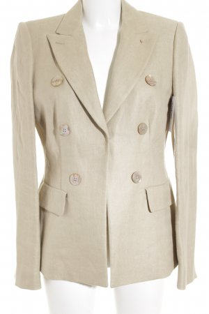 Sportmax Long-Blazer creme Fischgrätmuster Business-Look