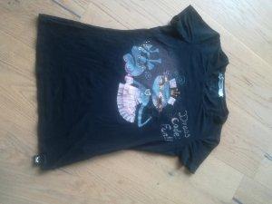 Sportmax neuwertiges Top Shirt schwarz Gr. S 36 Strass Tüll Perlen NP 109 €