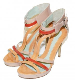 Sportmax Platform High-Heeled Sandal multicolored leather