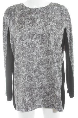 Sportmax Seidenbluse schwarz-weiß Colourblocking Metallelemente