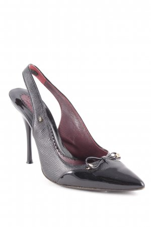 Sportmax Slingback-Pumps schwarz Business-Look