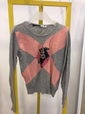 Sportmax Code Maglione lavorato a maglia grigio chiaro-rosa Viscosa