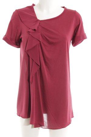 Sportmax V-Ausschnitt-Shirt himbeerrot Casual-Look