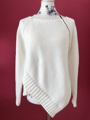 Sportmax Pull à gosses mailles blanc coton