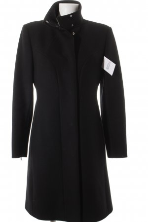 Sportmax Wollmantel schwarz Business-Look