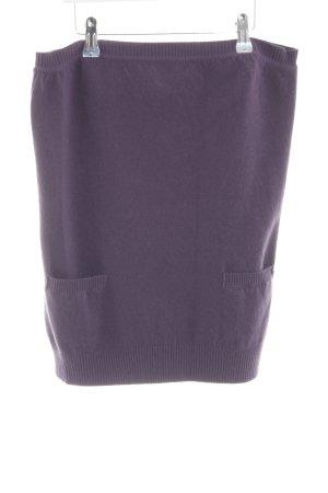 Sportmax Jupe en laine violet style décontracté