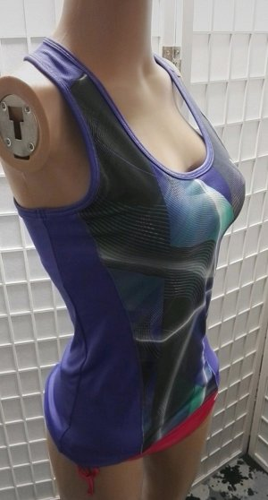 Puma Sportshirt paars-grijs-groen Polyester