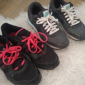 Nike High top sneaker donkergrijs-framboosrood