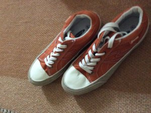 Sneakers met veters wit-neonoranje