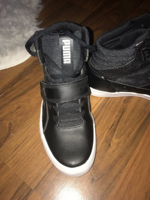 Puma Zapatillas con velcro blanco-negro