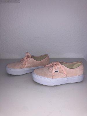 Sportschuhe rosa flach rosé Vans Sneaker