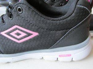 Lace-Up Sneaker black-pink mixture fibre