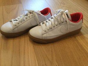 Nike Sneakers met veters wit-rood Leer