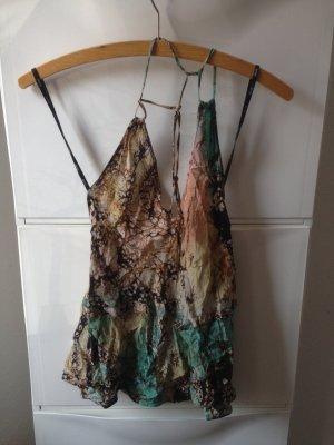 Sportsgirl beach neckholder batik seidig s 36 rückenfrei