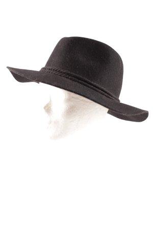 Sportsgirl Chapeau en feutre noir-doré élégant