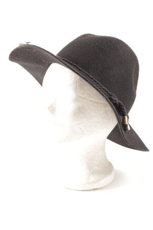 Sportsgirl Chapeau en feutre noir-doré style classique