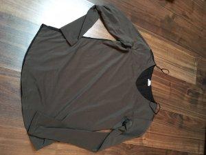 H&M Camisa tejida negro-gris