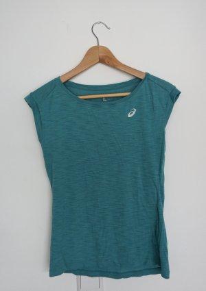 Asics Camisa deportiva turquesa Poliéster