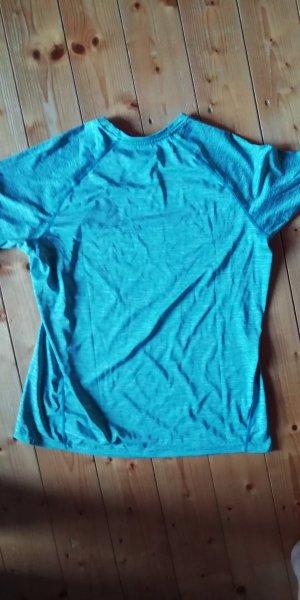 Sportshirt wit-lichtblauw