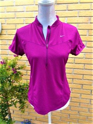 Nike T-shirt de sport magenta fibre textile