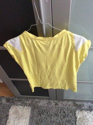 b.p.c. Bonprix Collection Maglietta sport giallo pallido-bianco
