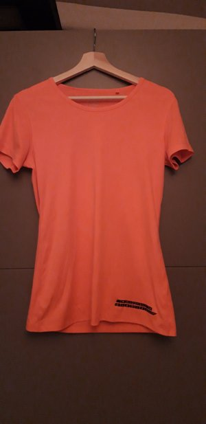 Camisa deportiva naranja neón