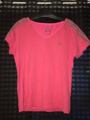 Sportshirt in rosa von Adidas
